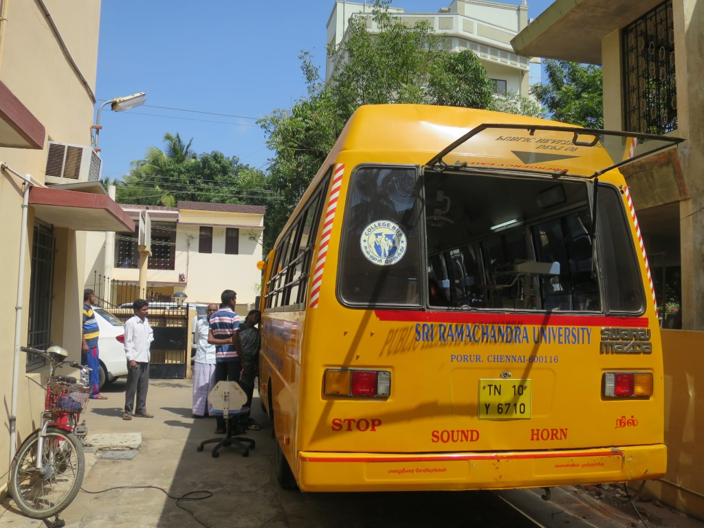 SRU provides mobile dental services in rural Indian communities